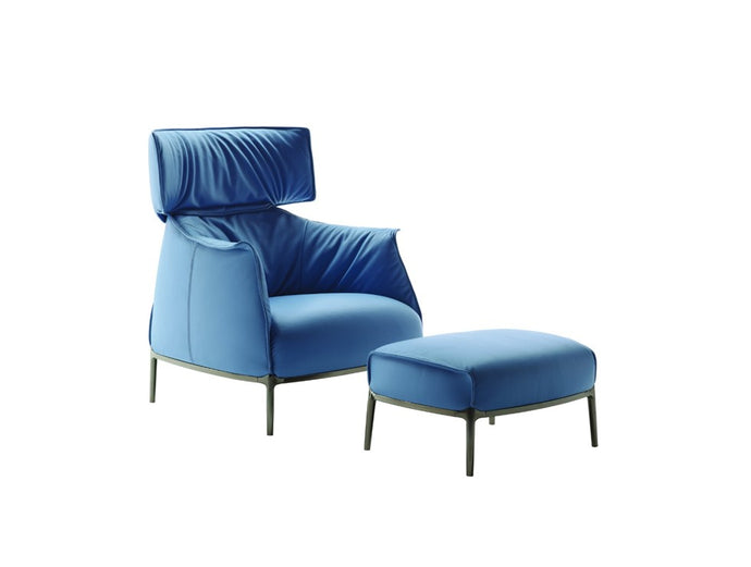 Archibald King Armchair with Ottoman