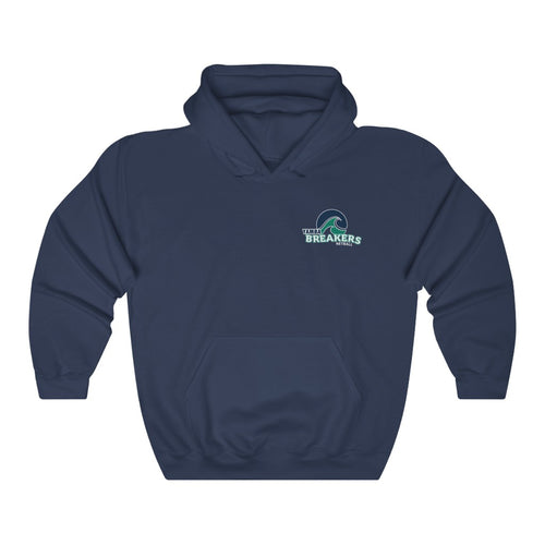 Yamba Breakers Netball - Back Print - Premium Fleece Hoodie