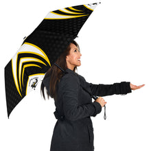 Load image into Gallery viewer, Clarence Coast Magpies - Push-Button Team Umbrella v2