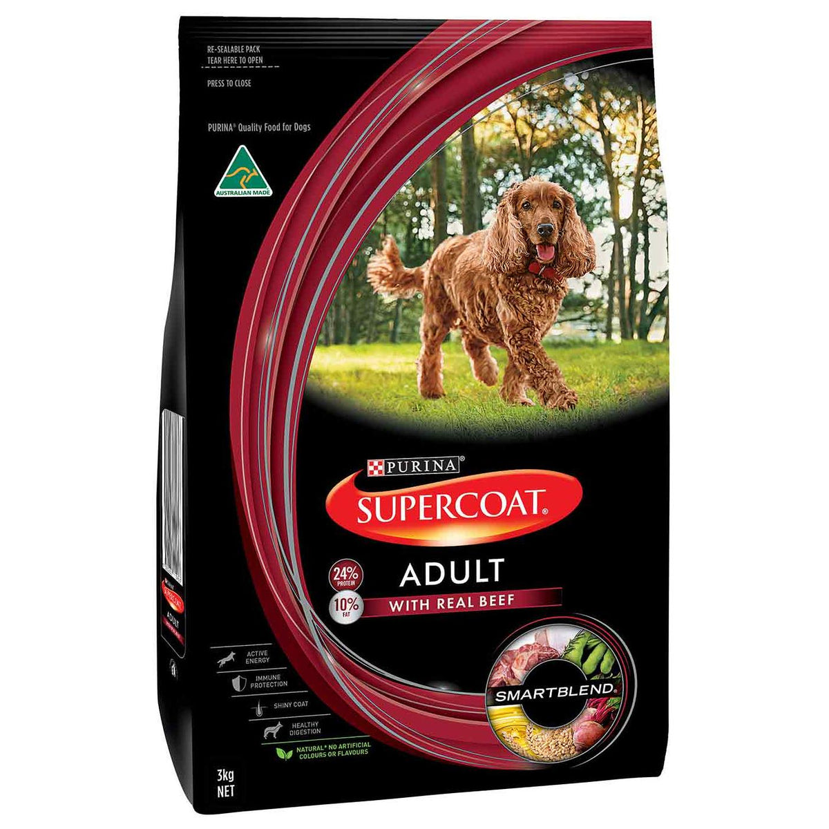 Supercoat Smartblend Adult Beef Dry Dog Food
