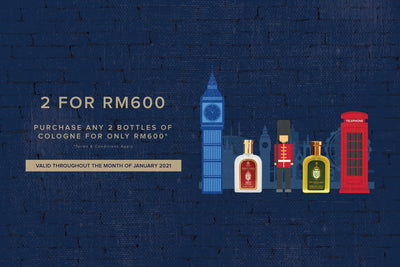 Any 2 bottles of Colognes for RM600