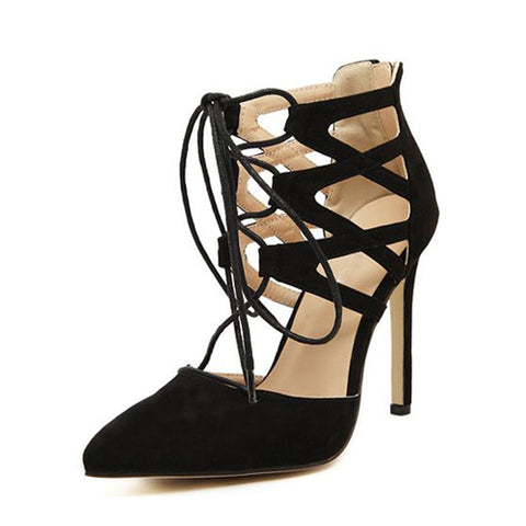 Solid High Heeled Stiletto Elegant Point Toe Heels
