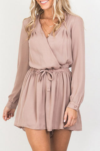 V-Neck Plain Romper