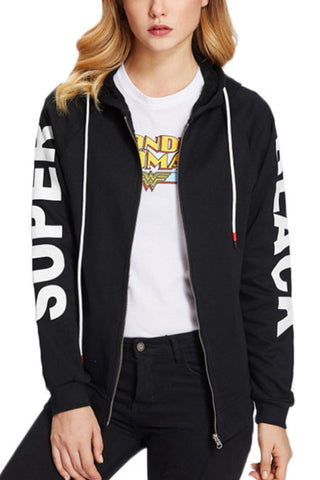 Hooded Blend Casual Letters Jackets