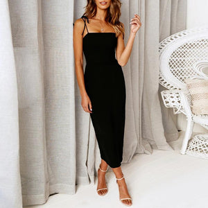 Spaghetti Straps Plain Bodycon Dresses