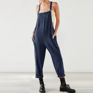 Casual Straps Sleeveless Pure Colour Jumpsuits