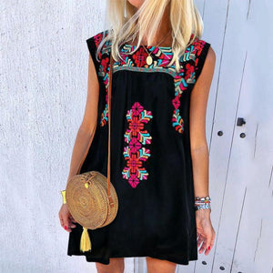 Summer New Embroidered Casual Dress
