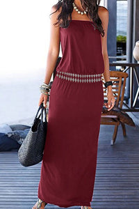 Strapless Plain Maxi Dresses