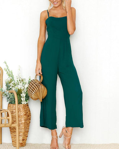 Sexy Sling Wrapped Chest Jumpsuit