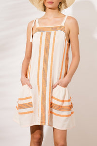 Spaghetti Strap  Striped Casual Dresses