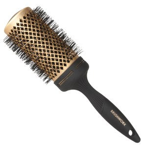 Brushworx Gold Ceramic Hot Tube Hair Brush, Extra Large