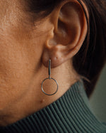 minimalist earring made from sterling silver