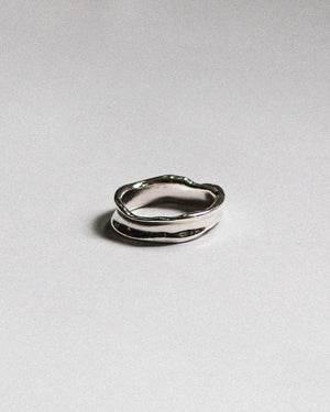 unisex everyday 925 sterling silver jewelry organic band ring