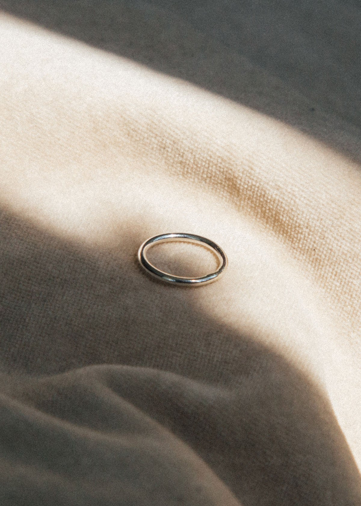 simple band ring made from sterling silver 2mm