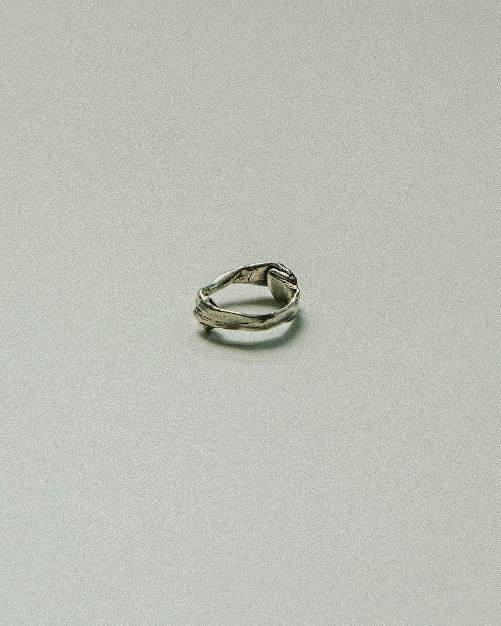 oxidized sterling silver handmade ring