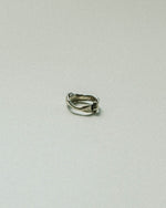 fold over ring organic rough sterling silver ring