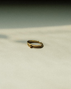 Hammered Skinny Round About Ring – Gold Filled