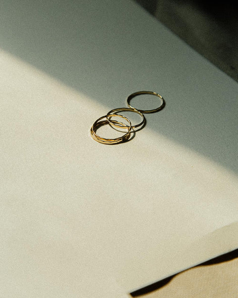3mm Hammered Thumb or Finger Ring  Sterling Silver or Gold Fill  Simple Domed with Hammered Finish  Super Comfortable  Unisex