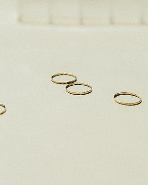 skinny stacker ring gold filled