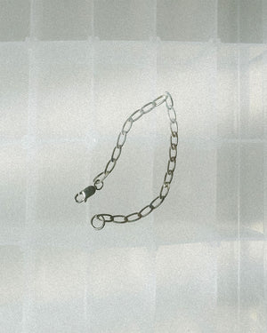 sterling silver elongated chain bracelet made in canada
