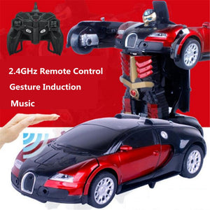 Deformed remote control car toy.Inductive deformation car