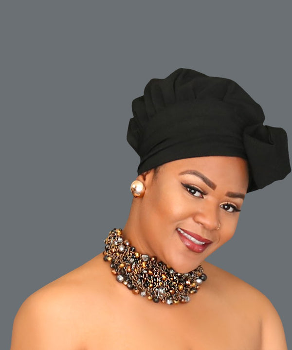 Satin Lined African Print Headwrap BONITA-accesories-NBLCouture