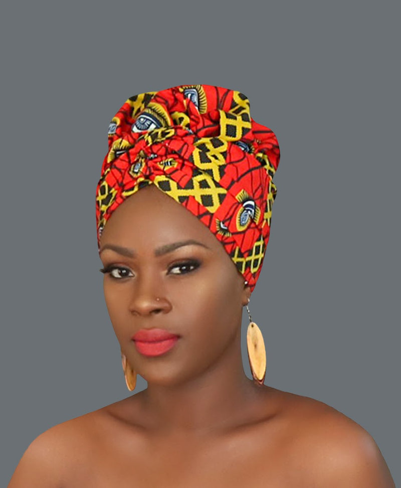 Satin Lined African Print Headwrap COLUMBIA-accesories-NBLCouture