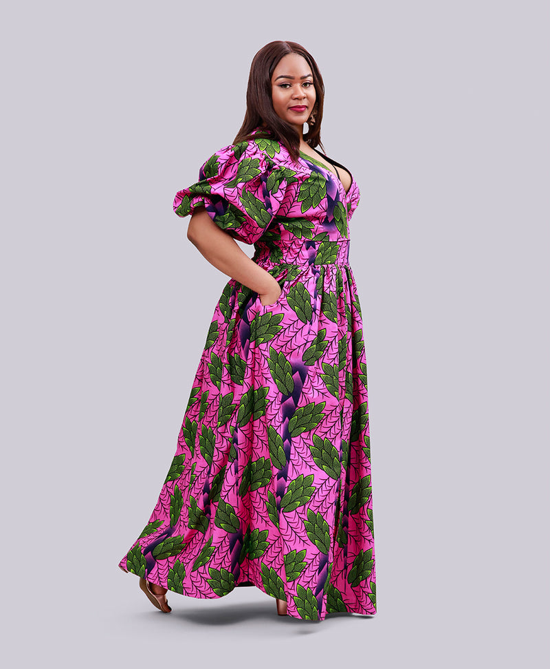 Odavia - African Print Maxi skirt and Top-NBLCouture