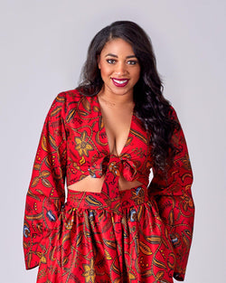 Paulina - Front Tie Top-African Inspired garments-NBLCouture