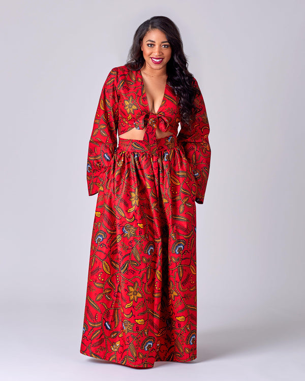 Paulina - African Print Maxi skirt and Top-African Inspired garments-NBLCouture