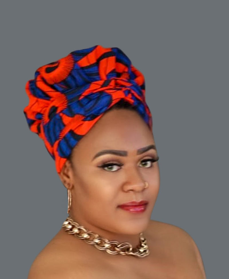 Satin-lined African Print Head wrap AMANDA-accessories-NBLCouture