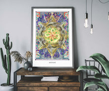 Load image into Gallery viewer, mystic psychedelic mandala art poster for home decor