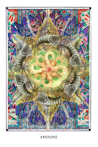 mystic psychedelic mandala art poster for home decor