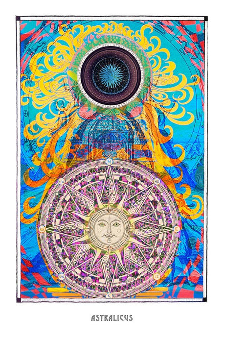 mystic psychedelic astronomy art poster for home decor -coloro mystic