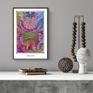 mythological esoteric mystical art poster for boho home decor - coloro mystic