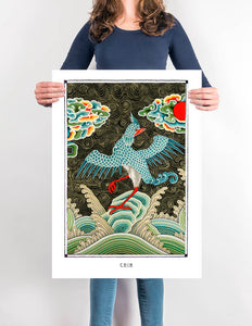 bird mystic fantasy art poster for home decor - coloro mystic