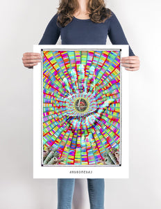 mystic psychedelic Visionary art poster for home decor