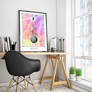 mystic symbology art poster for home decor cosmic egg - coloro mystic