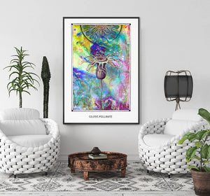 cosmic psychedelic mystic art poster for home decor - coloro mystic