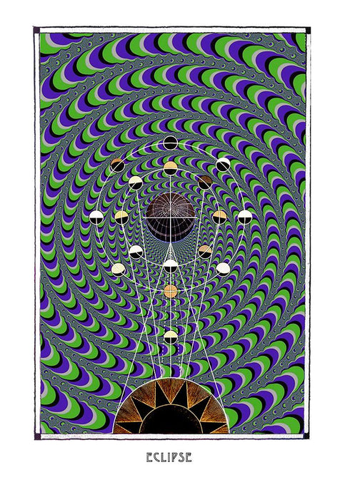 astronomy psychedelic geometry art poster for home decor - coloro mystic