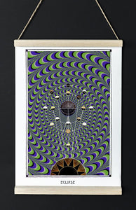 astronomy psychedelic geometry art poster for home decor