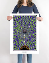 Load image into Gallery viewer, eclipse astronomy psychedelic geometry art poster for home decor - coloro mystic