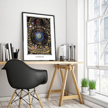 Laden Sie das Bild in den Galerie-Viewer, astronomy psychedelic art poster for boho home decor - coloro mystic