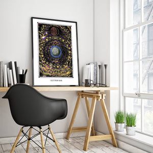 astronomy psychedelic art poster for boho home decor - coloro mystic
