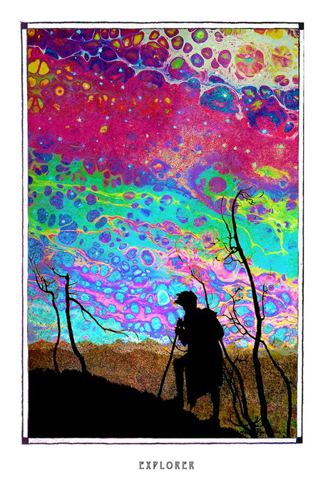 fantasy psychedelic art poster for home decor - coloro mystic