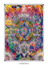 Load image into Gallery viewer, psychedelic mandala art poster for boho home decor - coloro mystic