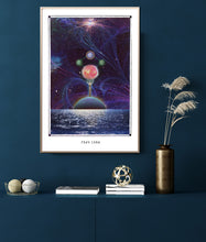 Load image into Gallery viewer, Frau Luna cosmic surreal wall decor