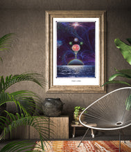 Load image into Gallery viewer, Frau Luna cosmic surreal wall decor poster