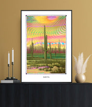 Load image into Gallery viewer, Psychedelic Mescaline cactus poster for your House and home office decor
