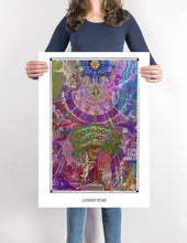 Load image into Gallery viewer, mythological esoteric mystical art poster for boho home decor - coloro mystic